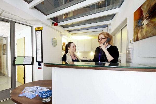 Serviced offices in King's Cross reception